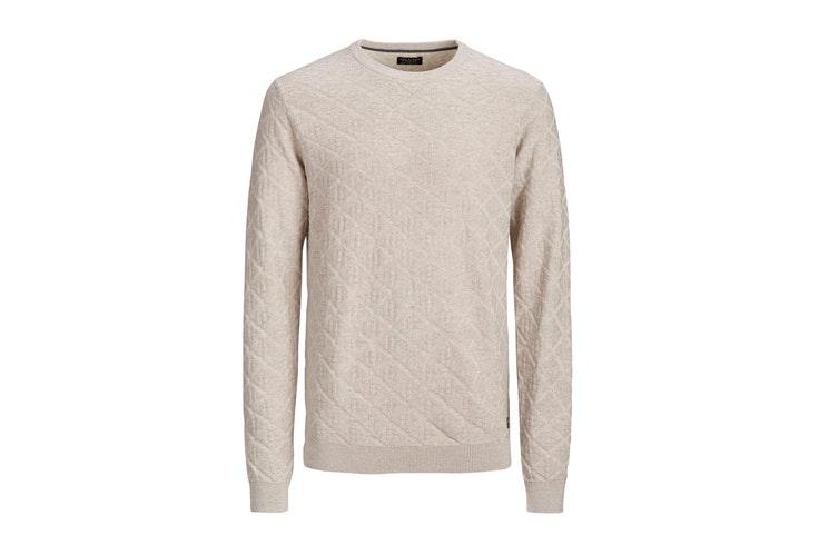 jersey-de-punto-beige-texturizado-jack-and-jones