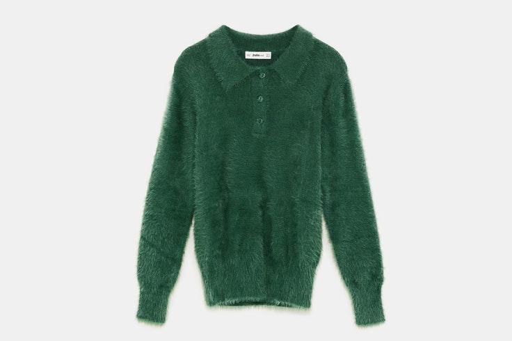 jersey-polo-textura-pelo-color-verde-zara