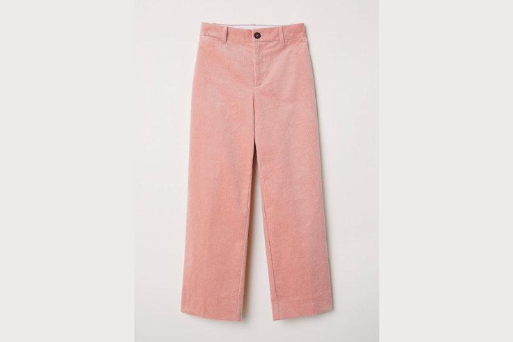 pantalon-pana-rosa-claro-hm