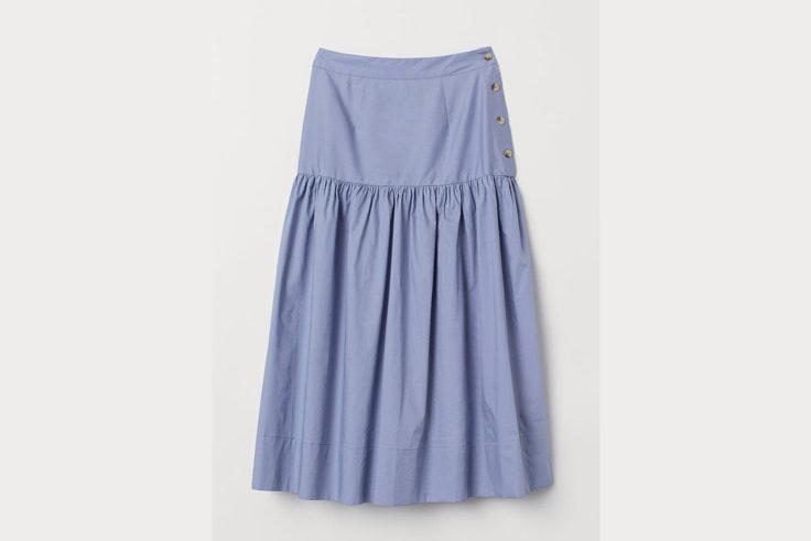 falda-azul-volante-hm