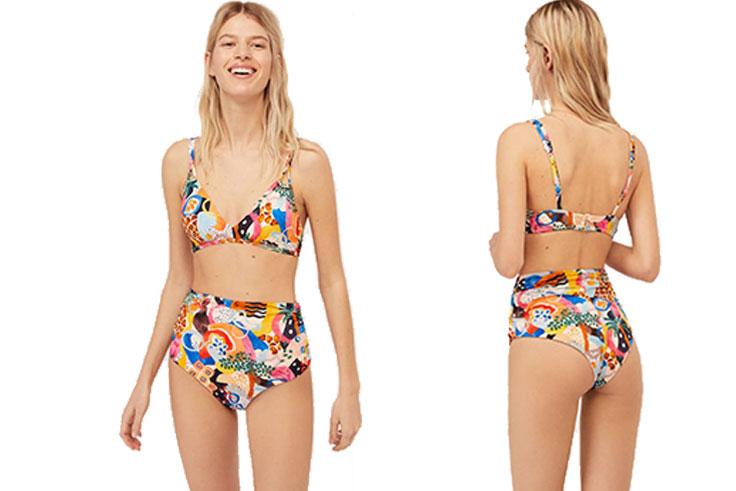 bikini con estampado africano oysho