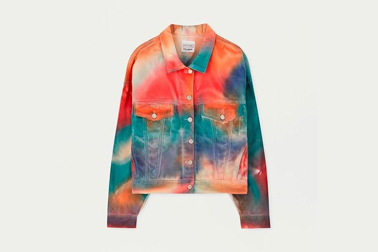 Cazadora tie dye multicolor de Pull & Bear