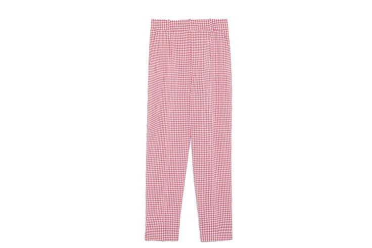 Traje-rosa-de-cuadros-vichy-de-Zara-pantalon