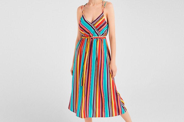 vestido de rayas de colores de Springfield