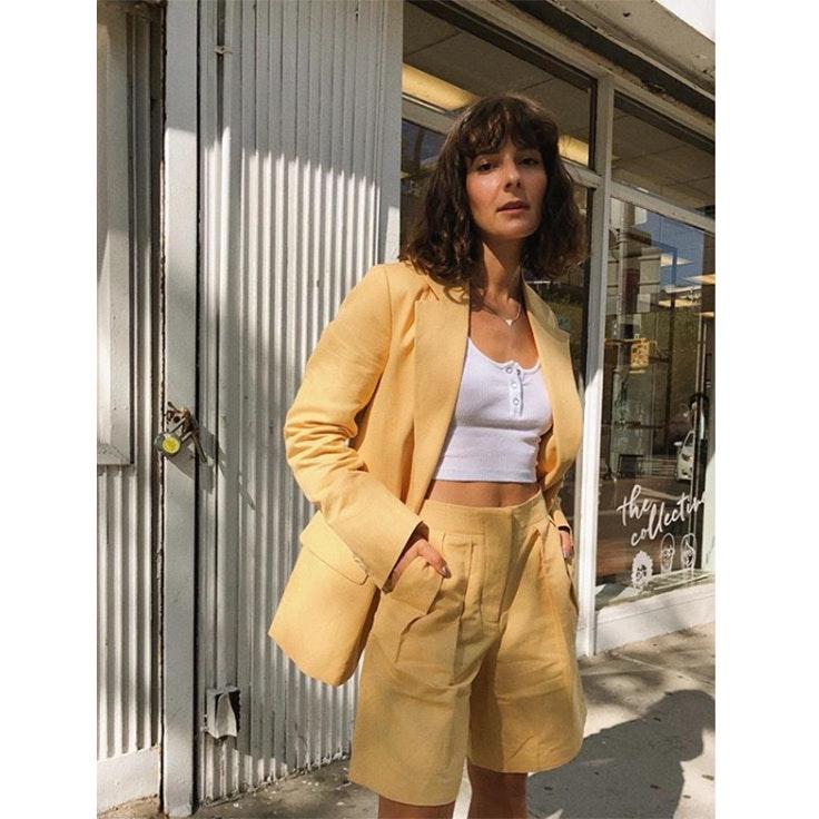Alyssa bermuda blazer colores pastel