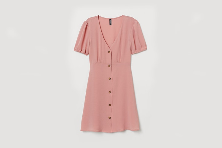 vestido rosa h&m color pastel