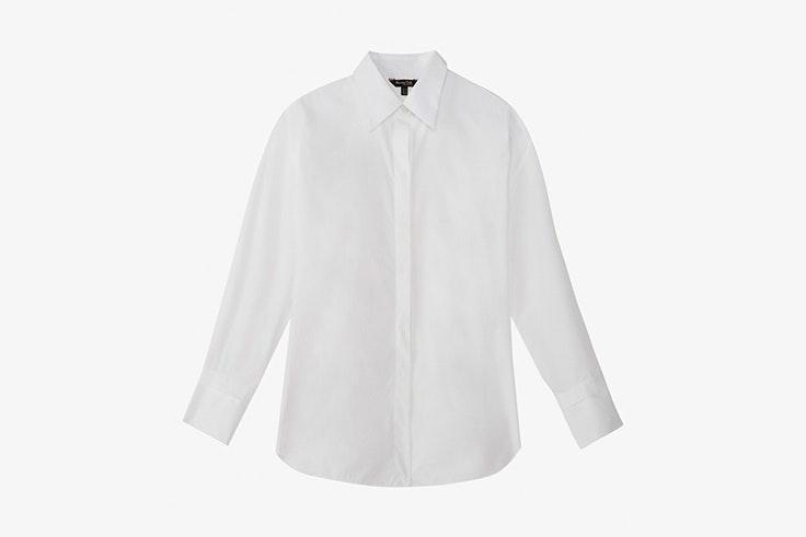 camisa blanca massimo dutti fondo de armario