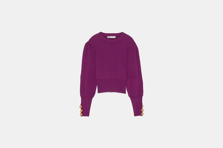 jersey violeta zara el estilo de Sara Baceiredo