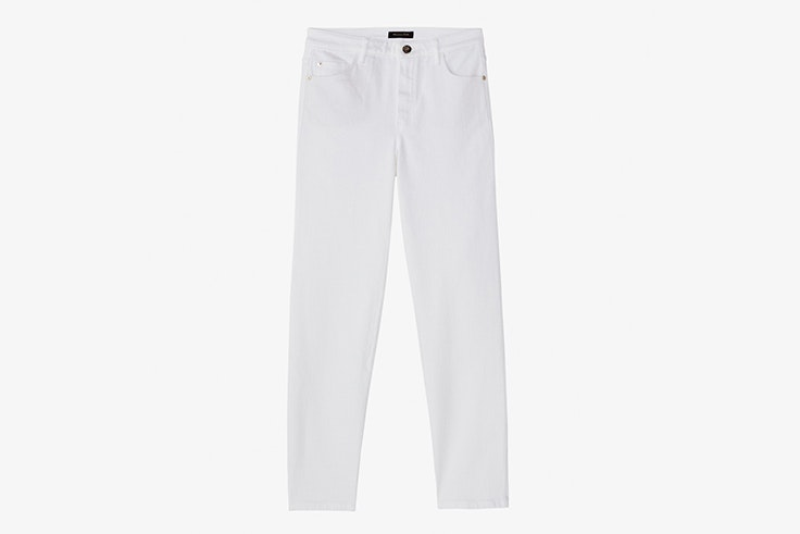pantalon largo blanco massimo dutti