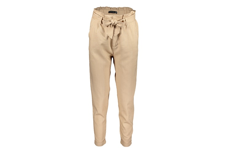 pantalon largo lino beige newyorker