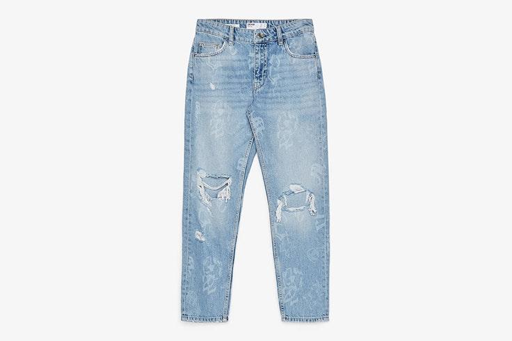 pantalon-largo-vaquero-azul-bershka