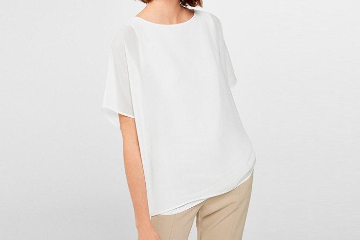 camiseta blanca cortefiel