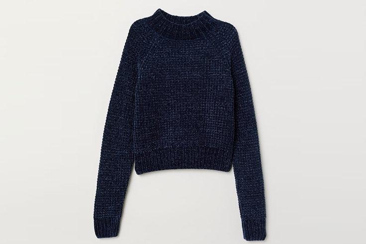 jersey azul marino hm