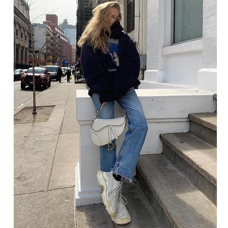 mvb estilo instagram zapatillas blancas ugly shoes