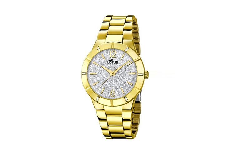 reloj dorado lotus timeroad