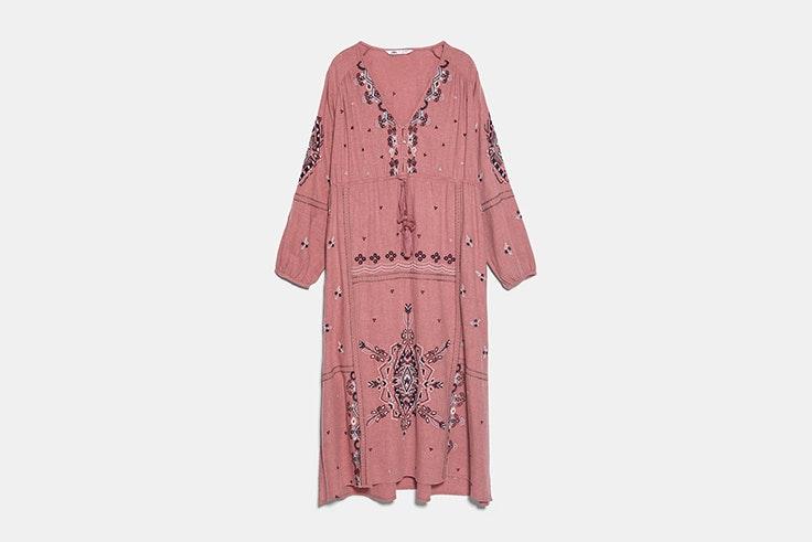 vestidos estampados zara