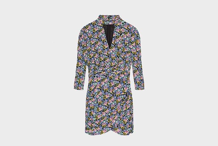 vestido corto flores bershka vestidos estampados