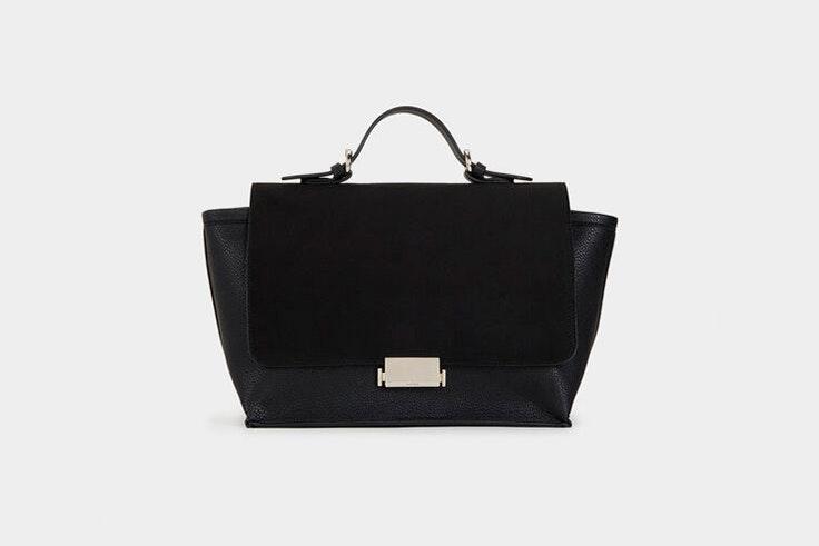 bolso maletin negro parfois