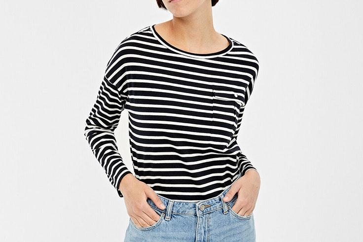 camiseta rayas con bolsillo de springfield María Tilve