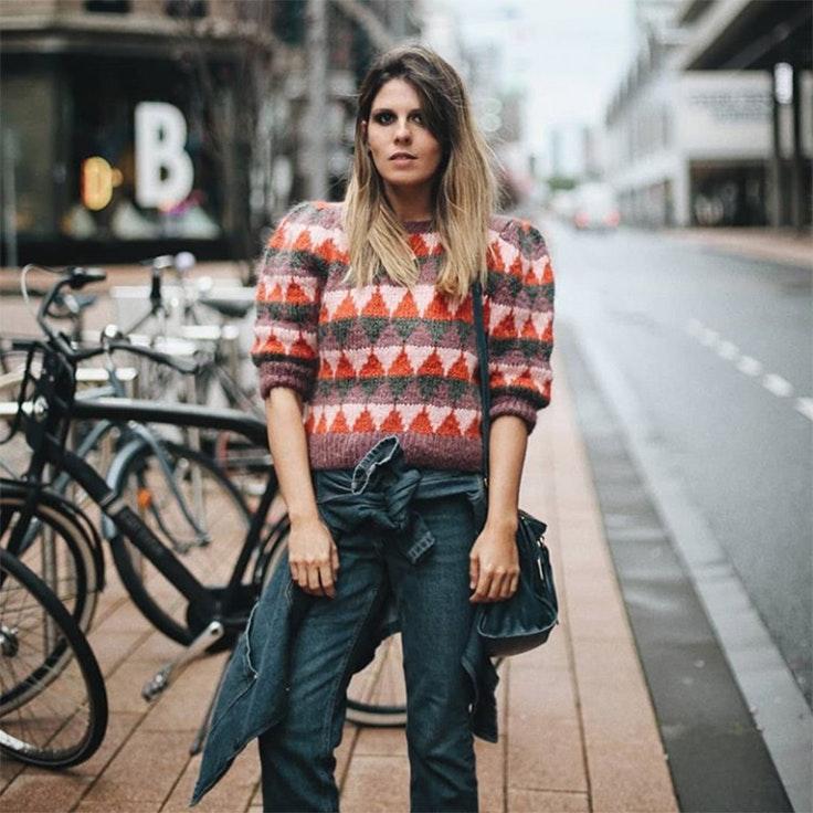 ester bellon estilo instagram jersey de jacquard influencer