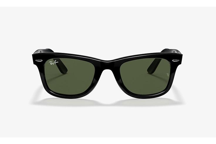 gafas de sol negras wayfarer ray ban sunglass hut
