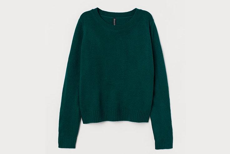 jersey verde punto hm