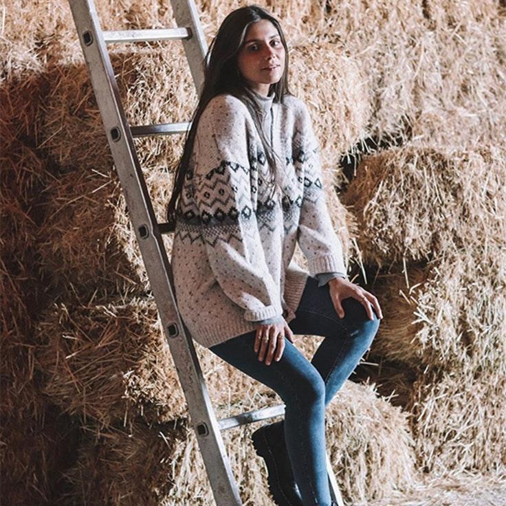 maria García de jaime estilo instagram jersey de jacquard