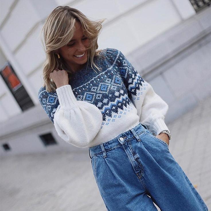 paula argüelles estilo instagram jerséis de jacquard