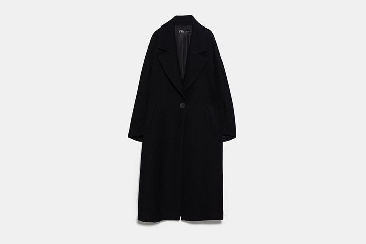abrigo negro oversize con lana de zara Pernille Teisbaek