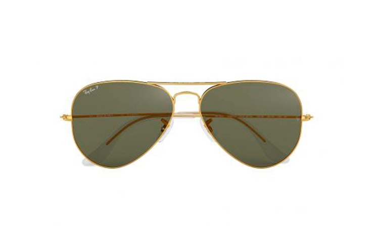 Gafas de sol aviador de Ray Ban. Disponibles en Nueva Visión.