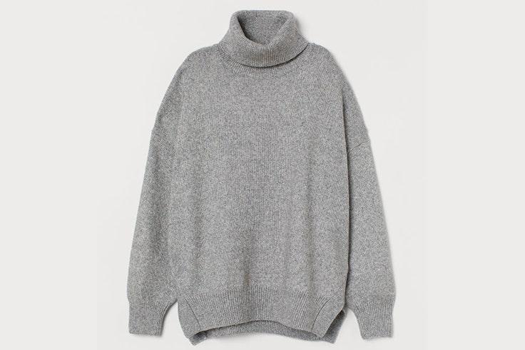 Jersey en color gris de cuello vuelto de H&M