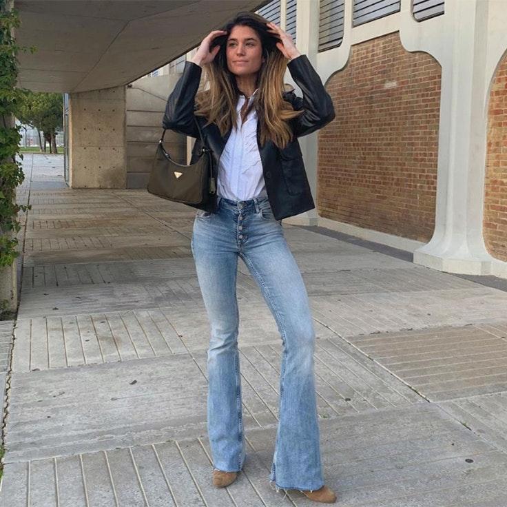 marta vidaurreta estilo foto instagram conjunto moda pantalones campana