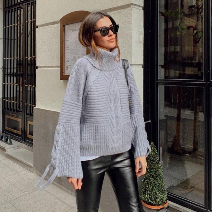 maría turiel estilo instagram jersey gris