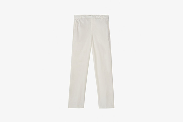 pantalon chino color beige slim fit de massimo dutti Melissa Villarreal