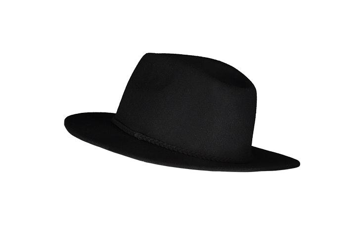 sombrero fedora negro new yorker prendas para el frío