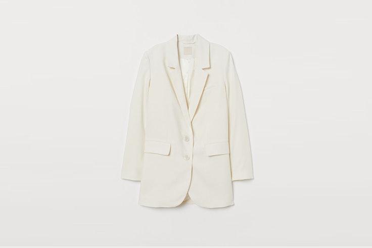 blazer color crema de H&M blazers para entretiempo
