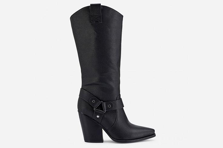 Botas cowboy altas en color negro de Marypaz