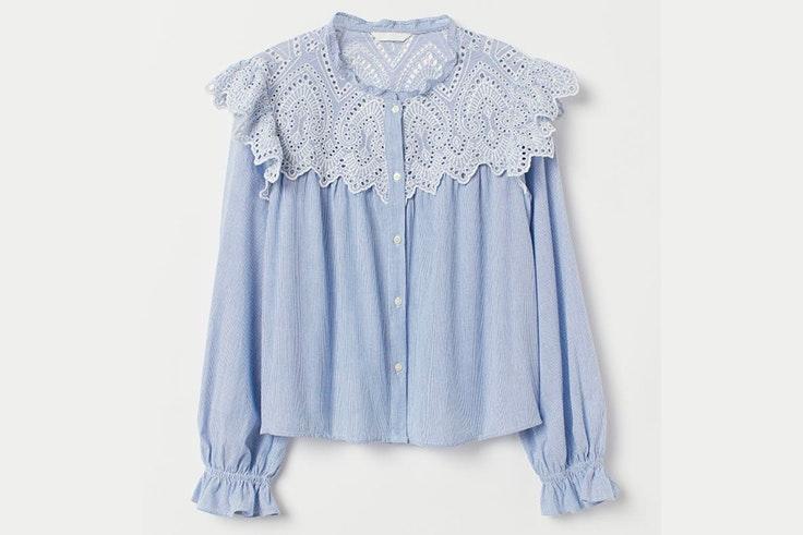 Blusa con cuello bobo de H&M