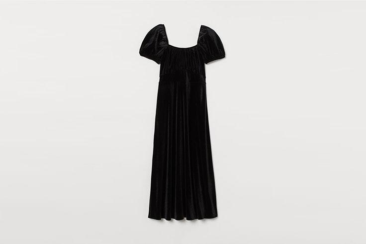 vestido negro de velour de hym looks de fiesta