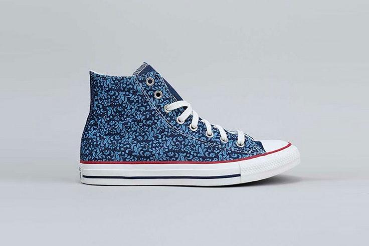 Zapatillas Converse con estampado azul de Krack