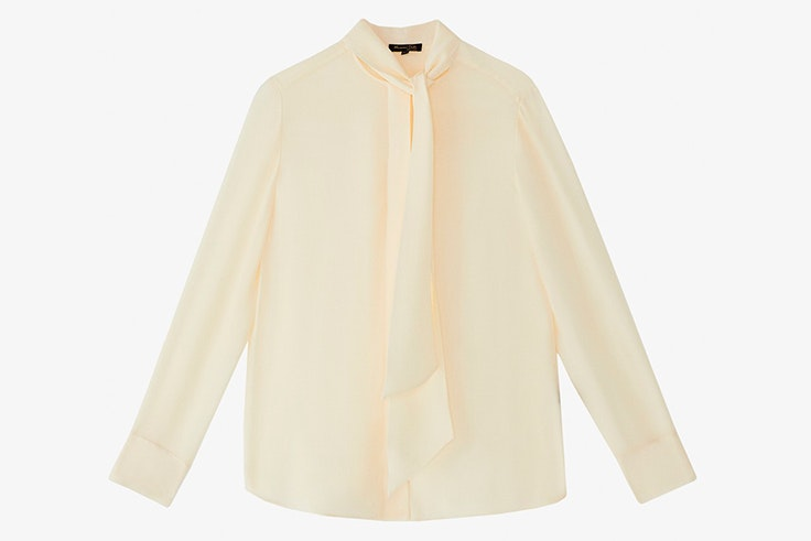 Blusa romántica crema de Massimo Dutti