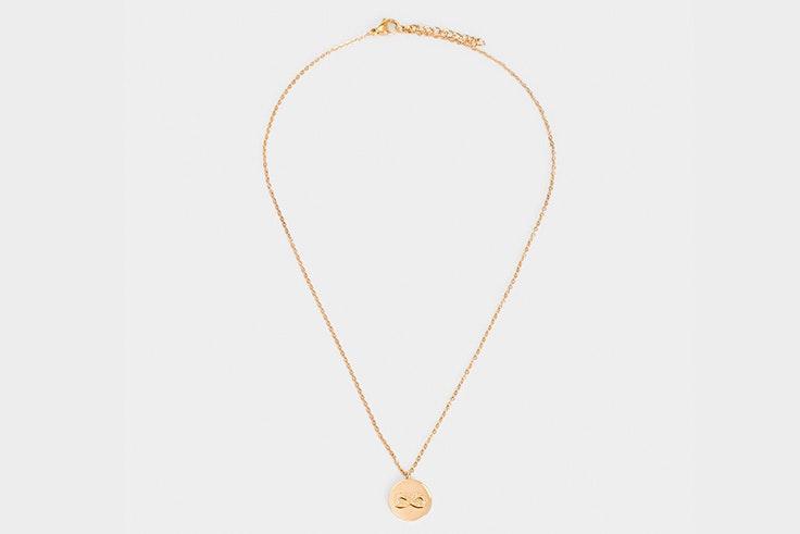 Colgante dorado con símbolo del infinito de Parfois
