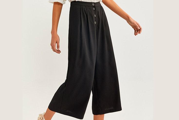Pantalón negro holgado de Springfield