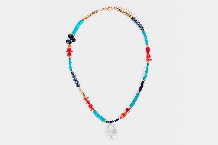 Colgante de perlas de colores de Parfois