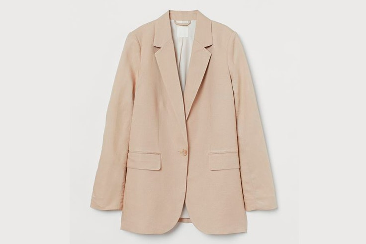 Chaqueta de lino en color beige de H&M