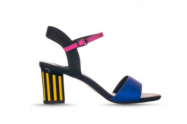 Sandalia de colores con tacón de RKS