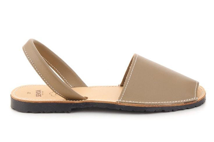 sandalias para verano menorquina basica piel senda merkal calzados