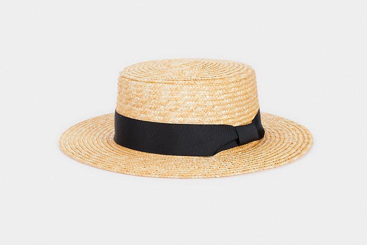 Sombrero de rafia con cinta en color negro de Parfois