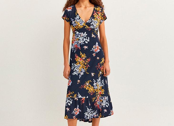 vestidos de flores Vestido azul marino de Springfield