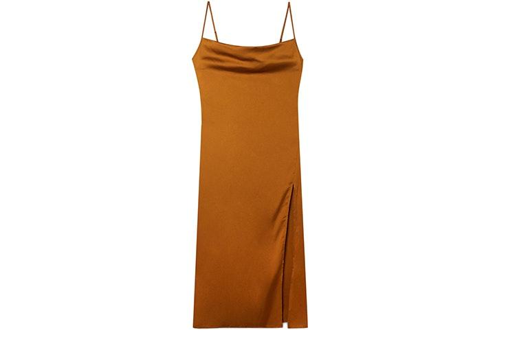Vestido lencero satinado de Stradivarius nueva colección